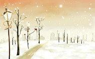 初冬的雪夜