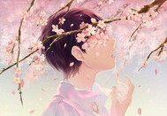 樱花树下心凄凉