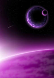 紫色的月亮