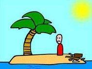 游戏主播流浪在荒岛